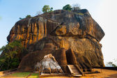 Sigiriya Rock Side Second Level Stairs Lion Feet — Stock Photo