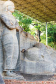 Covered Standing Reclining Buddha Polonnaruwa — Stock Photo