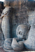 Standing Reclining Buddha Statues Polonnaruwa — Stock Photo