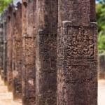 Polonnaruwa Audience Hall Columns Carvings Row — Stock Photo #14207167
