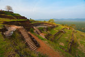 Sigiriya Rock Top Summit Terraced Ruins — Stock Photo