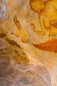 シギリヤ ロック古代の洞窟のフレスコ画の女性 v — ストック写真
