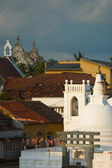 Christian Church Buddhist Temple Galle Cityscape — Stock Photo