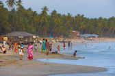 Middle Class Indian Tourists Goa Beaches Crowded — Stock Photo