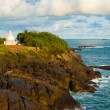 Unawatuna Headland Stupa Cliffs Ocean — Stock Photo