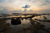 Sunset Tide Pool Reflection Neil Island Seascape — Stock Photo