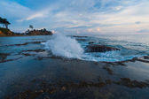 Wave Breaking Tide Pool Sunset Nature Neil Island — Stock Photo