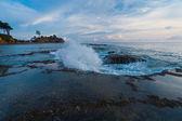 Wave Breaking Tide Pool Sunset Nature Neil Island — Stock Photo