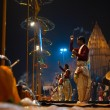 Varanasi Night Prayer Brahmin Priest Side Incense — Stock Photo #14952105