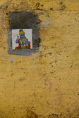 плитка глазурованная бога вишну открытый настенные украшения — Стоковое фото