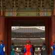 Gyeongbokgung Palace Entrance Steps Guards V — Stock Photo