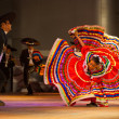Stock Photo: Jalisco MexicFolkloric Dance Dress Spread Red