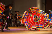Jalisco Mexican Folkloric Dance Dress Spread Red — Photo