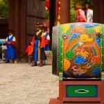 Large Traditional Korean Drum Deoksugung Palace — Stock Photo