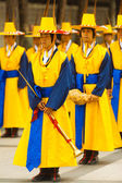Traditional Korean Musicians Band Flute Costume — Stock Photo