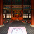 Gyeongbokgung Throne Hall Building Inside - Stock Photo