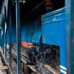 玩具火车引擎棚子大吉岭印度铁路 — 图库照片