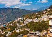 Gangtok Buildings Hillside Landscape Hill Station — Stock Photo