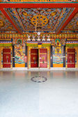 Rumtek Monastery Entrance Doors Ceiling V — Stock Photo