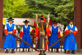 Guarded Entry Soldier Weapons Deoksugung Palace — Stock Photo