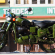 Stock Photo: Royal Enfield Bullet 350 Classic Motorcycle India
