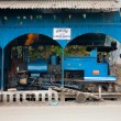 Stock Photo: Toy Train Parked Shed Driver Side Darjeeling