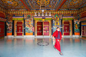 Monk Entrance Rumtek Monastery Doors Ceiling — Stock Photo