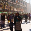 Tibetan Mother Child Lhasa Walking Barkhor Crowd — Stock Photo #24202437