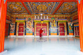 Monk Entrance Rumtek Monastery Locking Doors — Stock Photo