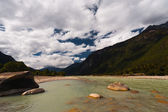 Pristine Natural Landscape River Bomi Tibet China — Stock Photo