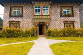 传统的藏石砖房子西藏 — 图库照片