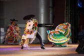 Bent Mexican Traditional Jalisco Dancer Green — Stock Photo