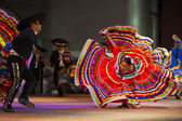 Jalisco Mexican Folkloric Dance Dress Spread Red — Stock Photo