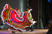 Traditional Mexican Dancer Red Dress Spreading — Stock Photo