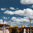 Stock Photo: Front Jokhang Temple Blue Sky LhasTibet