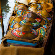 Thai Wicker Asian Conical Hats Floating Market — Stock Photo