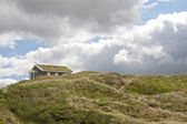 Holiday Homes in the Sand Dunes — Stock Photo