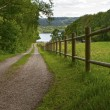 Fence at the lake — Stock Photo