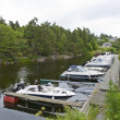 Small Marina in a Norwegian Fiord — Stock Photo