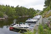Small Marina in a Norwegian Fiord — Stock Photo