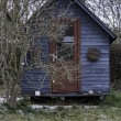 Stock Photo: Blue Shack in Garden