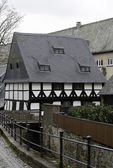 Half-Timbered House With Slate Roof — Stock Photo