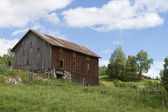 Old Barn in the Field — Stock Photo