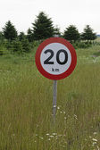 Road Sign - Speed Limit — Stock Photo