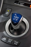 Hybrid car gear shifter — Stock Photo