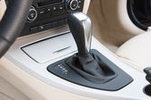 Sportscar gear shifter — Stock Photo