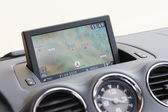 GPS system in dashboard over Spain — Stock Photo