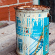 Stock Photo: Old and rusted paint tin