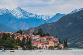 Small town near lake Como in Italian Alps — Stock Photo