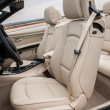 Stock Photo: Leather driver seats in luxury sportscar